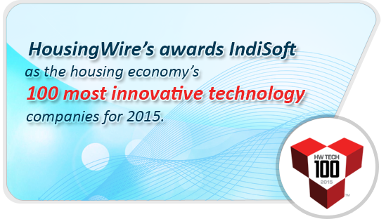 IndiSoft Listed by HousingWire Among 100 Innovative Technology Companies